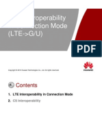 LTE Interoperability in Connection Mode (LTE-GU)