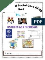 unit 2 topic 2 3 gcse barriers booklet
