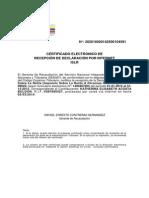 Certificado de Declaración _KATHERINA_2012