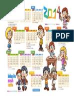 Kalender 2014 kartun lucu