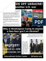 U.S. Hands Off Ukraine flyer