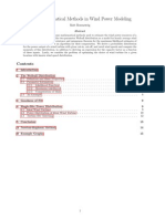 Mathematical Methods in Wind Power Modeling