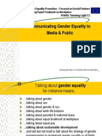 Manugender equality communicational