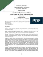 Ghana Energy and Poverty