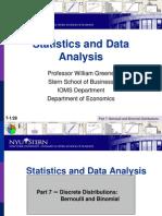 Statistics 7 Binomial&PoissonDistributions