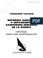 Velasco, Fernando_Reforma Agraria
