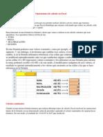 Operaciones de cálculo en Excel