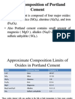 Oxide Composition of Portland Cement