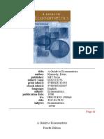 Econometrics Book - Intro, Ch 1 and 2