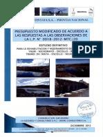 Volumen de Costos Dv.imata Oscollo Negromayo