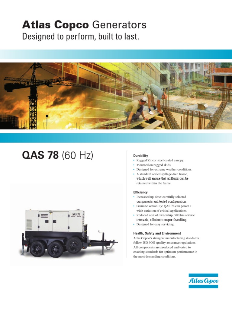 atlas copco qas 78 quality assurance switch rh es scribd com atlas copco generators service manual atlas copco generators service manual