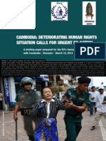 Cambodia Deteriorating Human Rights Situation Calls for Urgent EU Action