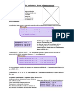 Múltiplos y divisores de un número natural