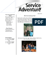 Service Adventure News  - March 2014
