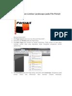 Menyisipkan Lembar Landscape Pada File Potrait