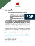 Comunicado de Prensa 003
