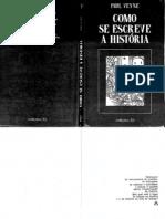 Paul Veyne - Como se escreve a História (edições 70)