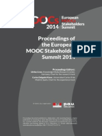 Proceedings Moocs Summit 2014