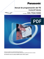 Manual de Programacion TE KX-TDA100D