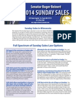 2014 Sunday Sales One Sheet