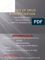 Routes of Drug Administration II