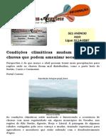 Condições climáticas mudam e preveem chuvas que podem amenizar seca na Paraíba