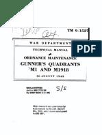 TM 9-1527 ( Ordnance Maintenance Gunner's Quadrants M1 and .pdf