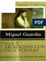 GUARDIA Tema y Variaciones Con Otros Poemas