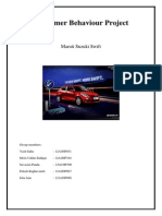 Consumer Behavior Project- Maruti Swift