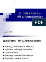 5. Sales Force - HR Administration