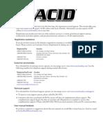 Acid 4.0 Pro Manual