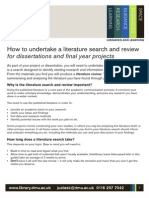 LiteratureSearch How to Undertake a Literature Search and Review