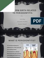 periodontology presentaion preterm birth spring 2014