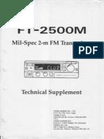 Yaesu Ft 2500m Technical Supplement
