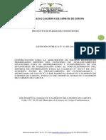 PROYECTO PLIEGO DE CONDICIONES LICITACIÓN-BIOMEDICOS-2014