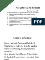 Hydraulic Actuators and Motors