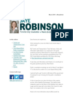 Councillor Jaye Robinson's March eNewsletter