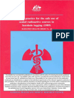 Code of Practice for the Safe Use of Sealed Radioactive Sources in Borehole Logging (1989)