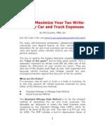 Vehicle Tax Write-Offs
