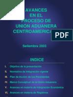 Avances en el proceso de unión aduanera centroamericano 2.11