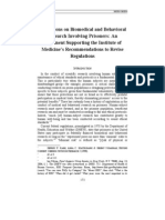 Limitations on Biomedical and Behavioral Research Involving Prisoners