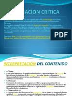 APRCIACION CRITICA