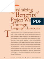 Maximizing the Benefits of Project Work in the Foreign Language Classroom
