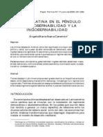 America Latina en El Pendulo de La Gobernabilidad