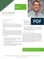 Matthew Ohlson, Ph. D., PCG Education Subject Matter Expert
