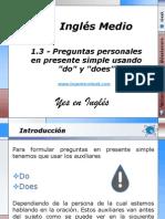 1.3 - Preguntas personales en presente simple usando do y does.pptx