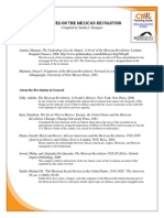 Mexican Revolution Bibliography