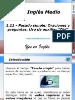 1.11 - Pasado simple Oraciones y preguntas. Uso de auxiliar Did.pptx