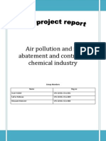 Air Pollution and Its Abatement and Control in Chemical Industry