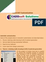 AutoCAD Customization, CAD Customization, AutoLISP, AutoCAD VBA, AutoCAD.Net